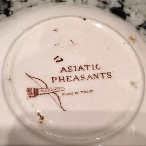 Asiatic Pheasants Other - Asiatic Pheasants Ridgways Stoke on Trent Tea Set